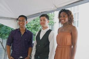 2014 winners of Spark! competition were Michael Cordero, left, second place, Laughlin High School;  Elliot James Rydell, third place, Las Vegas Academy of the Arts;  and Nikayla Williams, first place, Liberty High School.