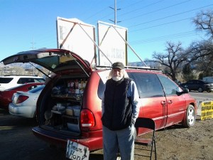 Mayo Stubbs is cashing in on the influx of traffic in Beaver Dam/Littlefield, AZ.  Stubbs has set up his fresh nut and jerky sales in the parking lot adjacent to the Beaver Dam Station and says his business has soared right along with the lottery sales.
