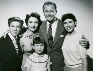 Elinor Donahue with TV parents Robert Young and Jane Wyatt in Father Knows Best