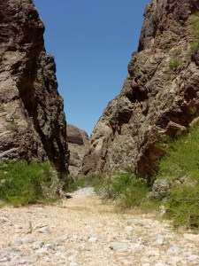 Slot section of Arrow Canyon Trail, Arrow Canyon Wilderness - April 2016
