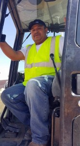 Demetrio Alvarado was the concrete finisher who worked on the original construction of the Beaver Dam High School in 2004.  Now Alvarado is back as the construction foreman for Kokopelli Landscaping who is completing the ground work for the project.  Photo by Teri Nehrenz