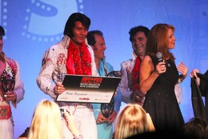 Winner of the 2016 Elvis Rocks Mesquite competition held at the CasaBlanca on June 17 and 18 is Travis Allen.  Allen took home the bragging rights for the seventh annual tribute artist competition and a check for $3,000.  Photo by Teri Nehrenz