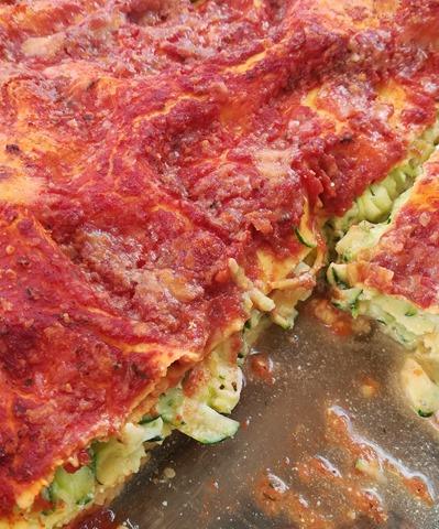 Lasagnes courgettes, ricotta et sauce tomate (5)
