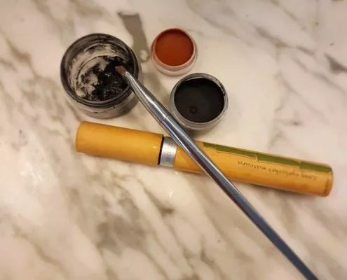 Mascara solide et eye liner DIY