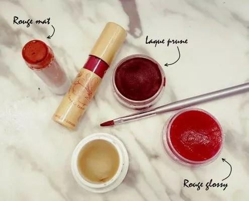 Sélection de rouges à lèvres maison