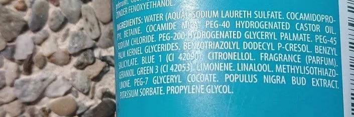 Ingrédients à éviter dans un gel douche