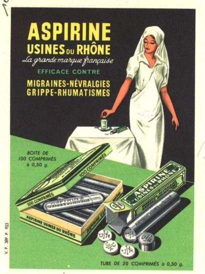 Une ancienne publicité pour l'aspirine