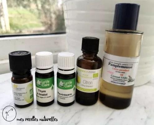 les huiles essentielles dans les produits ménagers