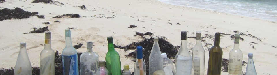 Clint Buffington's messages in bottles on the beach