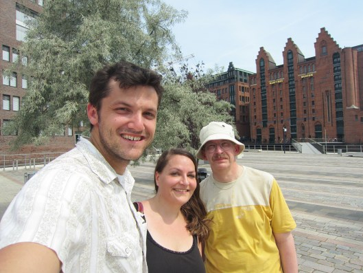 Clint, Andrea, and Peter at the International Maritime Museum in Hamburg Germany