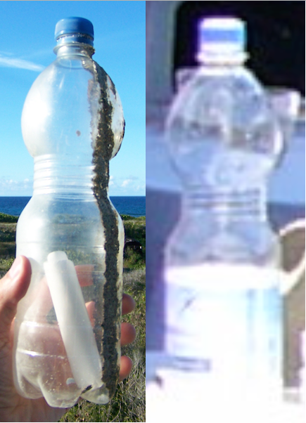 Sabine's Bottle and Maxim Gorkiy Bottle Side By Side