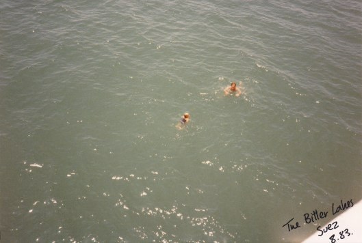 Sammie and Kelvin Swimming in Bitter Lakes : Suez
