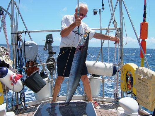 John fishing aboard Sara II.