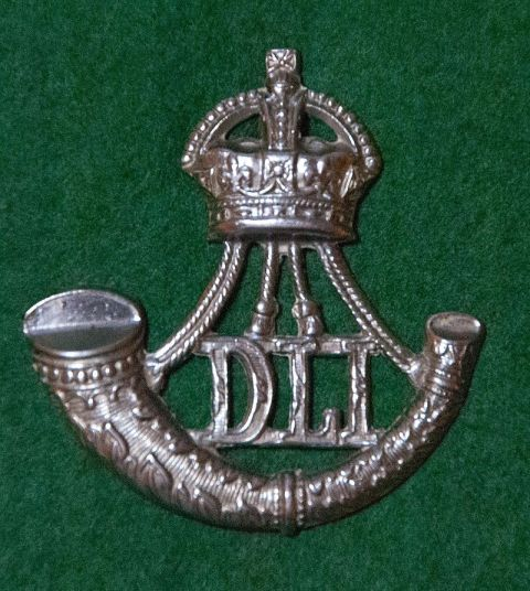 Durham Light Infantry cap badge from the era