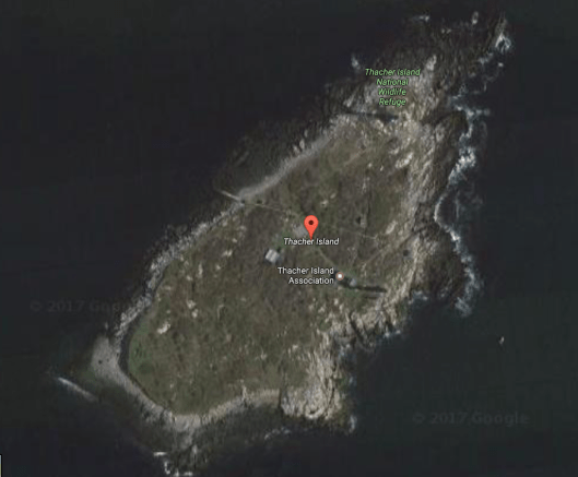 Satellite view of Thacher Island