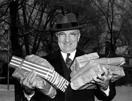 Harry Truman Christmas 1945 Gifts for Staff of Speech