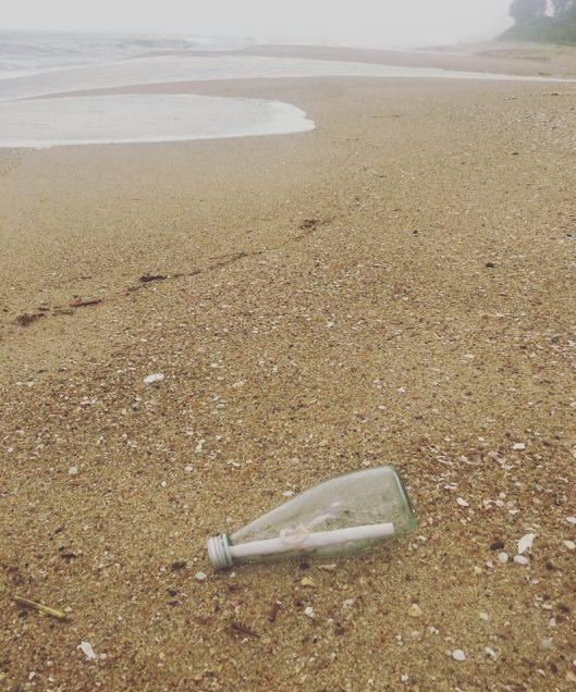 Tegan's Message in a Bottle - Karien Trengrove Found a Message in a Bottle in South Africa