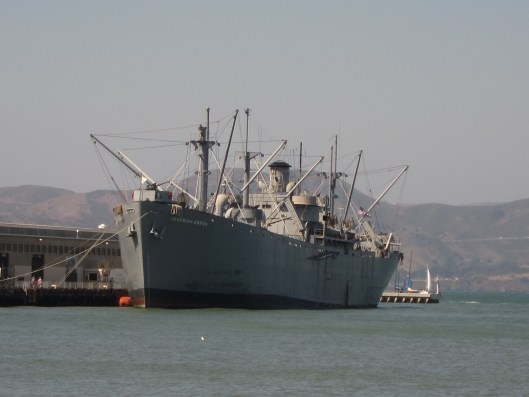 Liberty Ship in San Francisco Bay