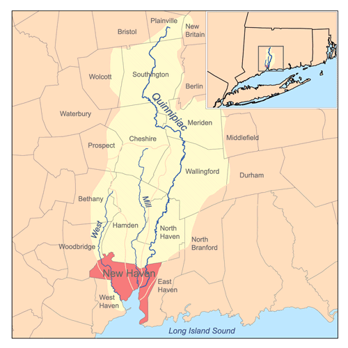 Map of Quinnipiac River