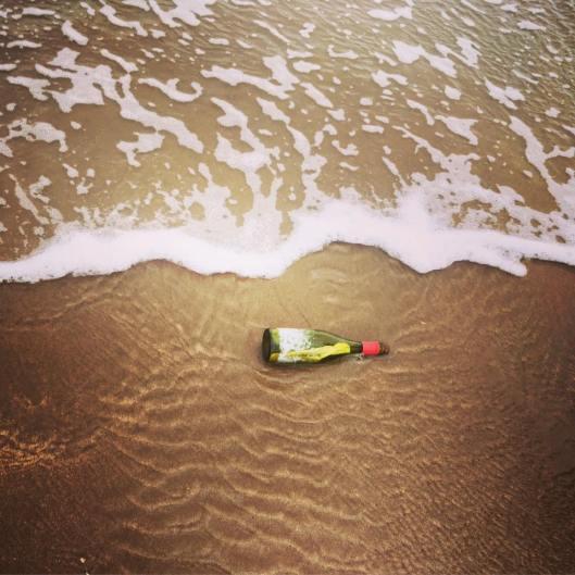 Drawing in a Bottle: The Message in a Bottle as Gemma Dunstan Found it on Devon's North Coast.