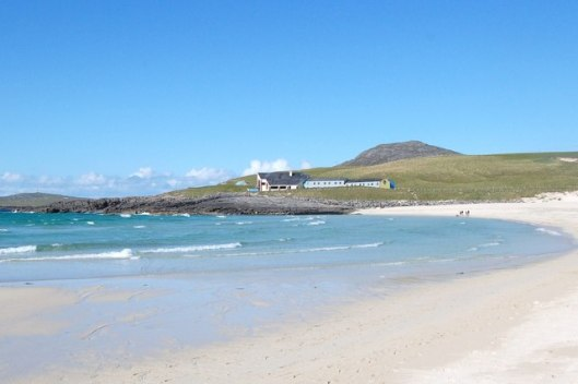 Canadian Sisters' Message in a Bottle - Isle of Barra Beach Hotel View from Tangusdale Beach
