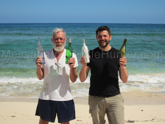 Clint Buffington and Bob Buffington message in a bottle
