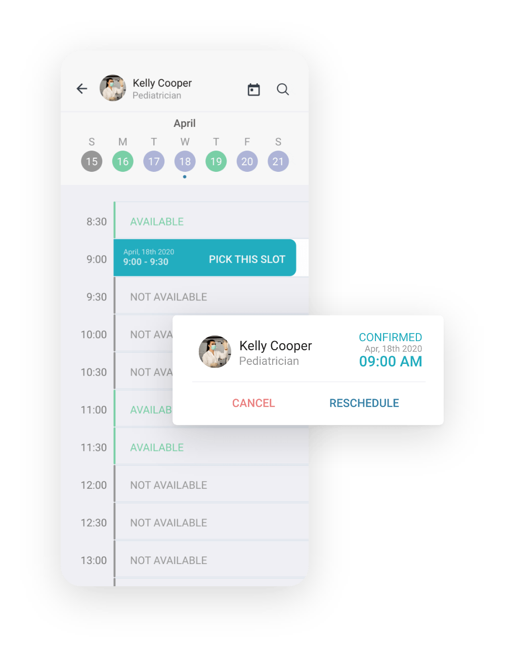 booking system for patients