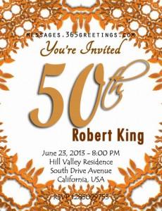 7ismylife 50th Birthday Sample Invitations