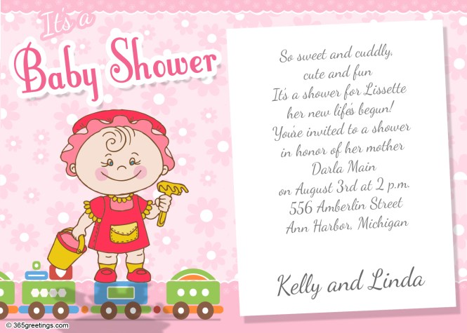 Baby Shower Invitation Wording For 365greetings Com