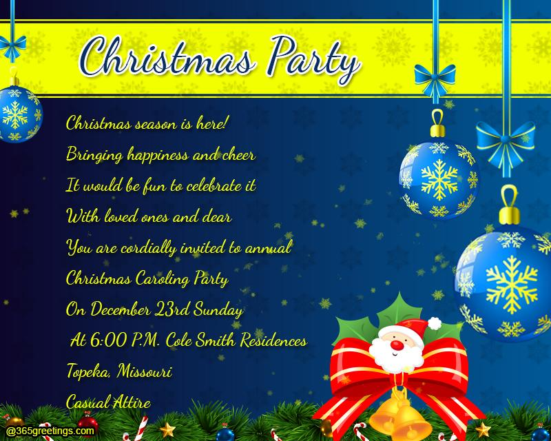 New Year S Eve Invitation Wording