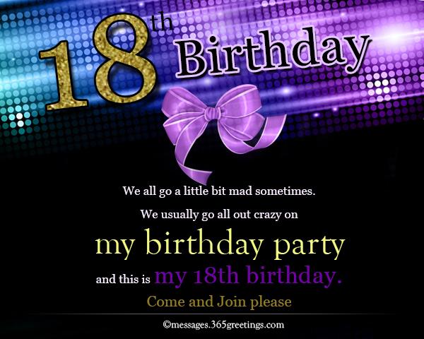 18th birthday invitations