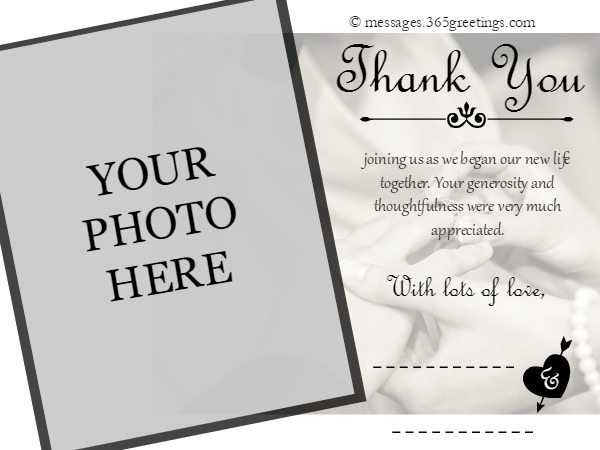 Photo Wedding Thank You Card Printable