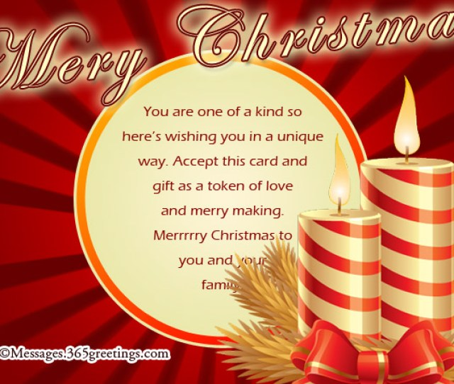 Merry Christmas Card Messages