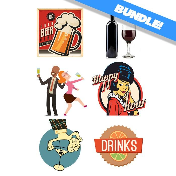 drinking sticker bundle