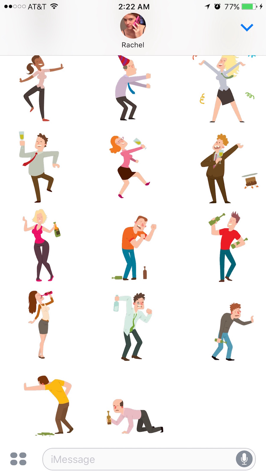 drunk stickers for iOS messages