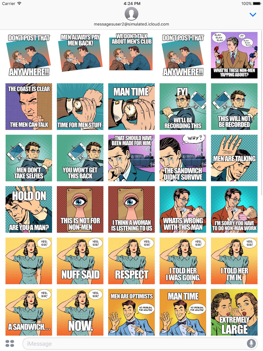 men stickers for imessage