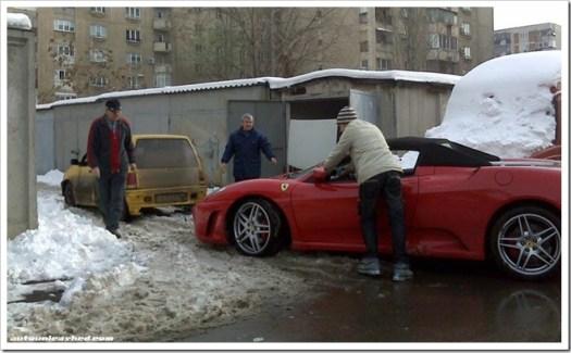 towed Ferrari F430