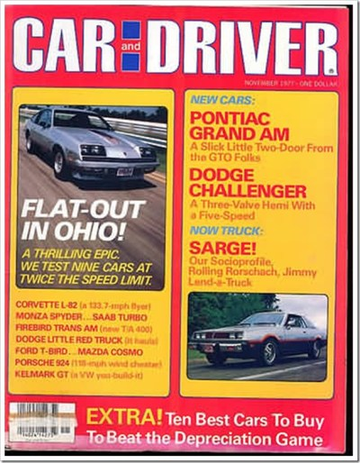 Car and Driver Novermber 1977
