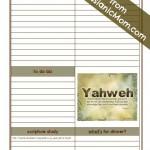 Messianic Mom's Daily to Do List.