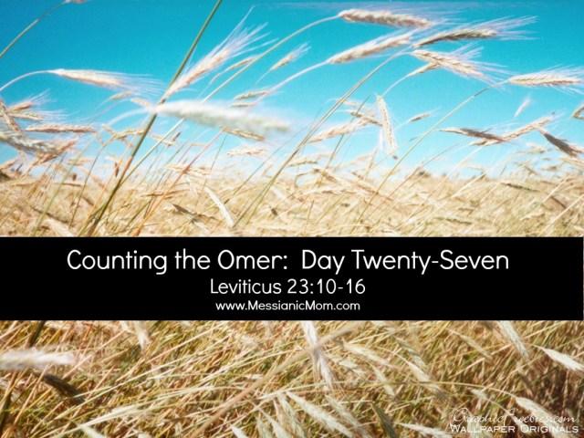Day Twenty Seven Omer Count