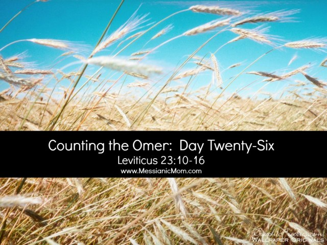 Day Twenty Six Omer Count