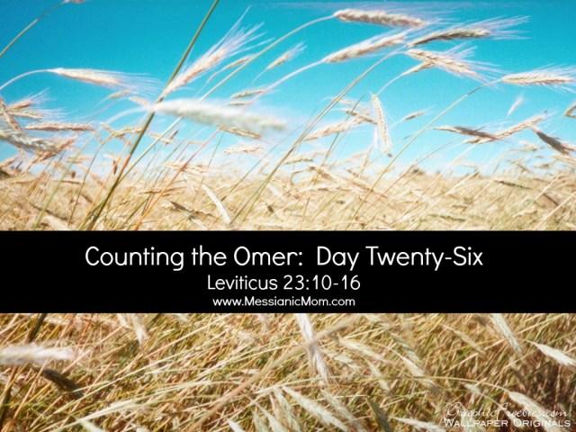 Day Twenty Six Omer Count