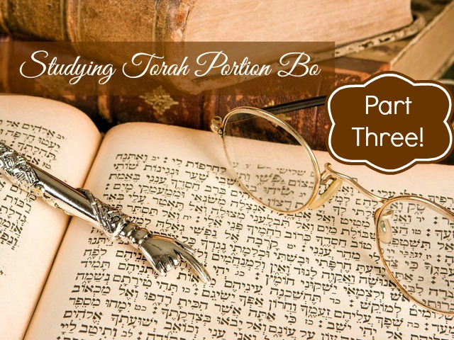 Studying Torah Portion Bo Part Three