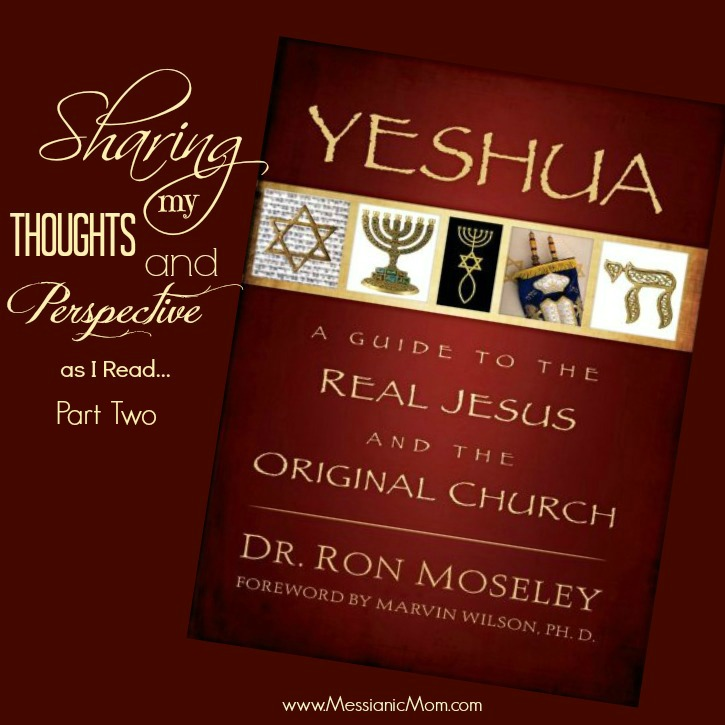 Sharing my Thoughts as I read Yeshua by Dr. Ron Moseley