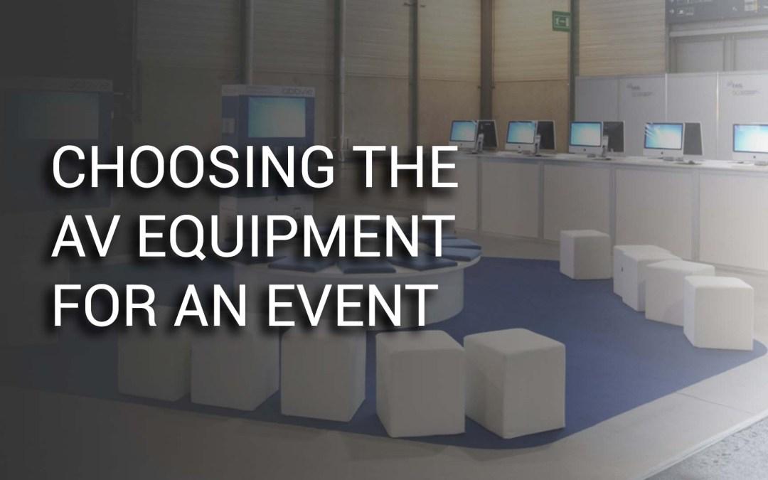 Waht AV equipment for my event