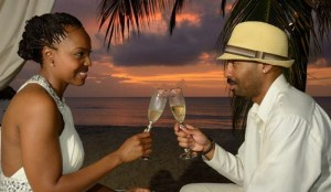 The Messy Mommy and Mr. T after their wedding in Aruba