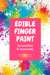 Edible, Spreadable and Washable Finger Paint for Sensory Play