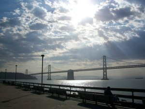 """""""bay bridge"""" photo by Julia Walsh FSPA (I got to see this on one of my recent adventures.)"""