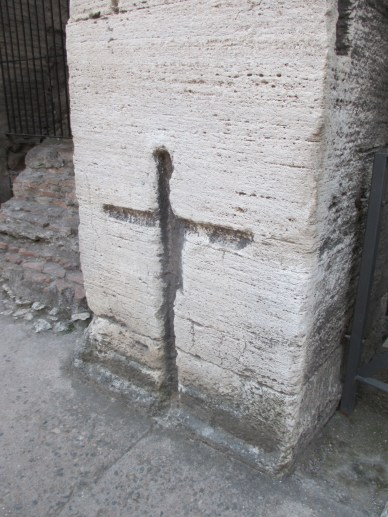 """cross in the colosseum"" photo by Julia Walsh FSPA"