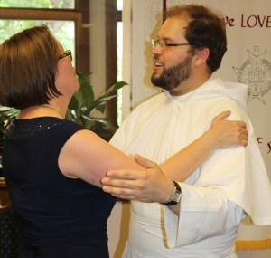 Sister Julia and friend Father Graham Golden, O.Praem.